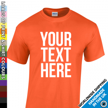 Kids Custom Text T Shirt
