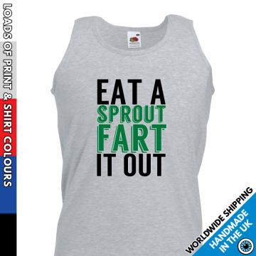 Mens Eat a Sprout Fart it Out Vest