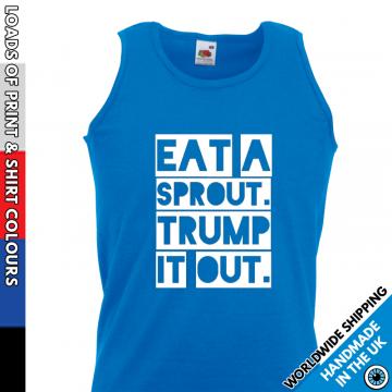 Mens Eat a Sprout Trump it Out Vest