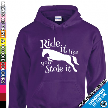 Adults Ride It Like You Stole It Hoodie