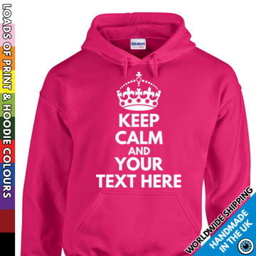 Kids Keep Calm Custom Text Hoodie