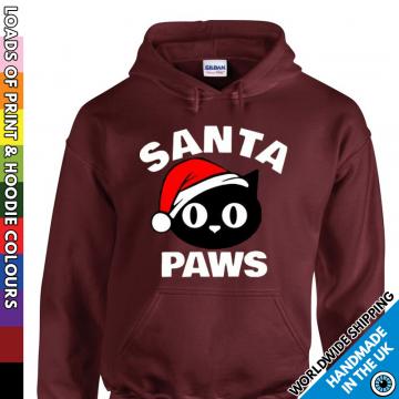 Kids Santa Paws Christmas Hoodie