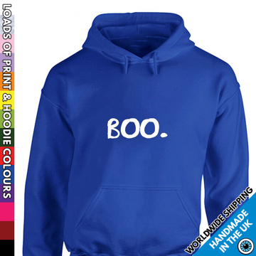 Adults Understated Little Boo Ghost Halloween Hoodie