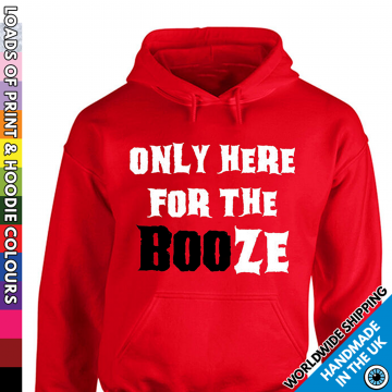 Adults Only Here For The Booze Halloween Hoodie