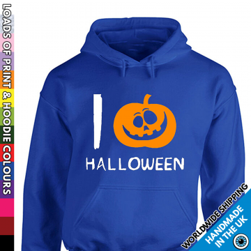 Adults I Love Halloween Pumpkin Hoodie