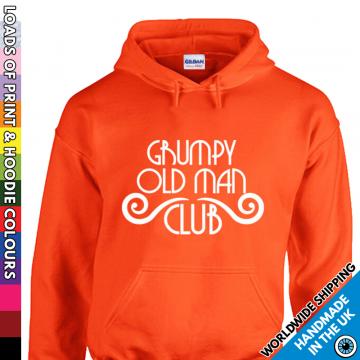 Mens Grumpy Old Man Club Hoodie