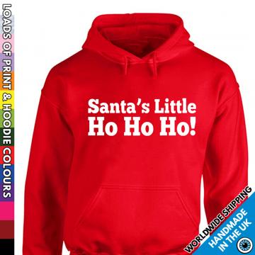 Adults Rude Santas Little Ho Ho Ho Hoodie