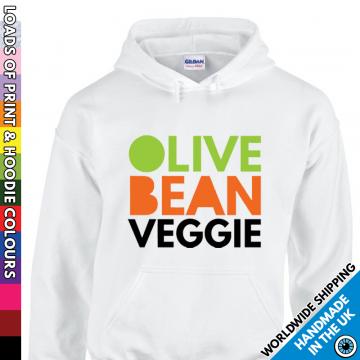 Adults Olive Bean Veggie Hoodie