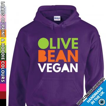 Adults Olive Bean Vegan Hoodie