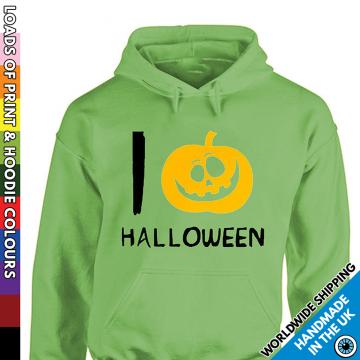 Kids I Love Halloween Pumpkin Hoodie